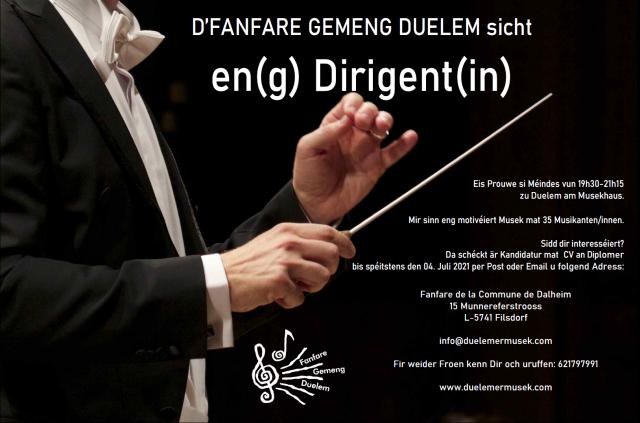 D'FANFARE GEMENG DUELEM sicht en(g) Dirigent(in)